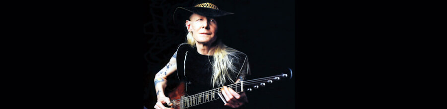 Johnny Winter no palco