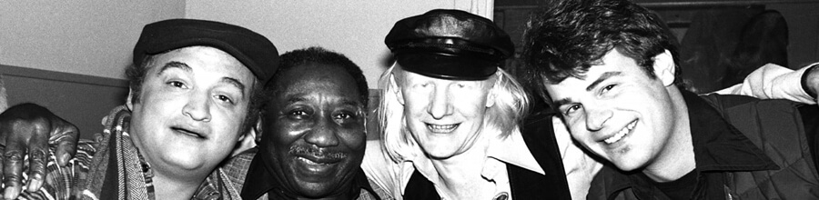 Johnny Winter com a banda de Muddy Waters